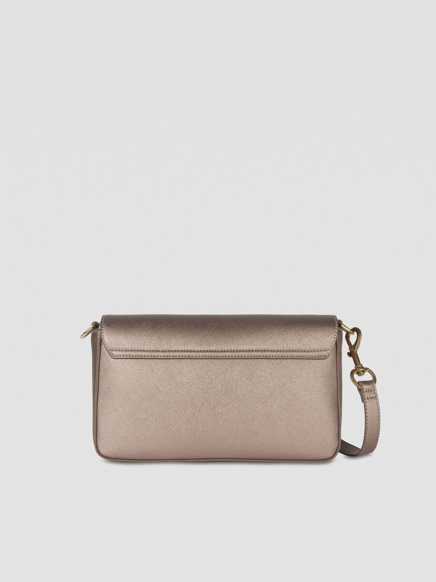 Cross-body Bella in similpelle laminata
