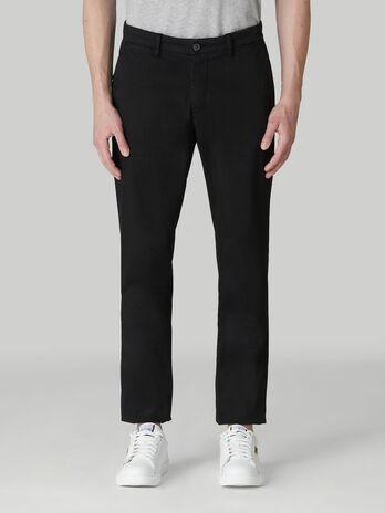Pantalone aviator fit in satin di cotone