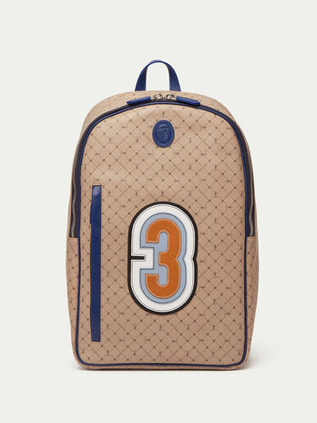 Crespo leather Monogram backpack with patch