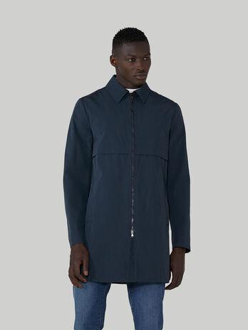Technical cotton fabric car coat