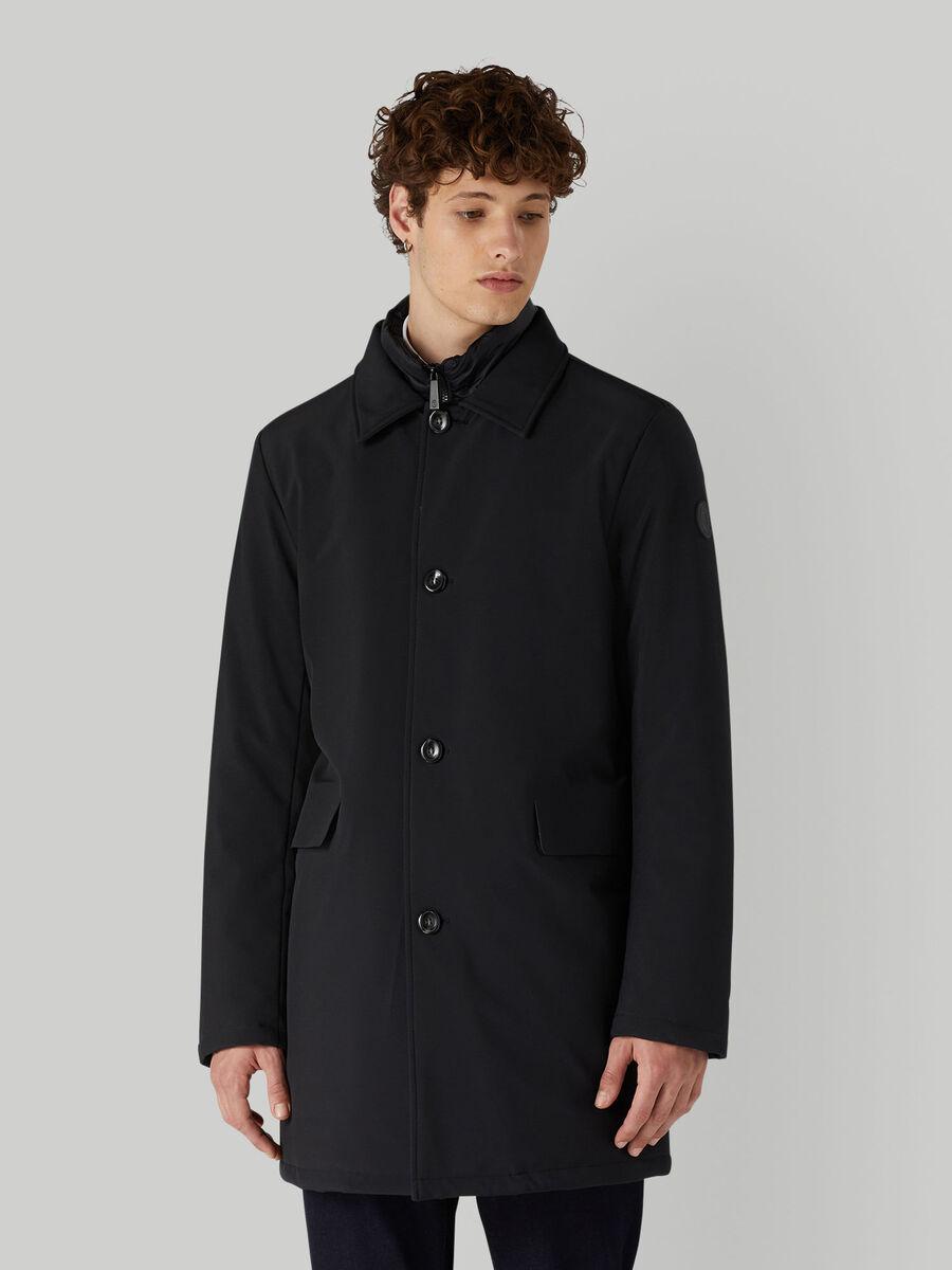 Padded neoprene car coat
