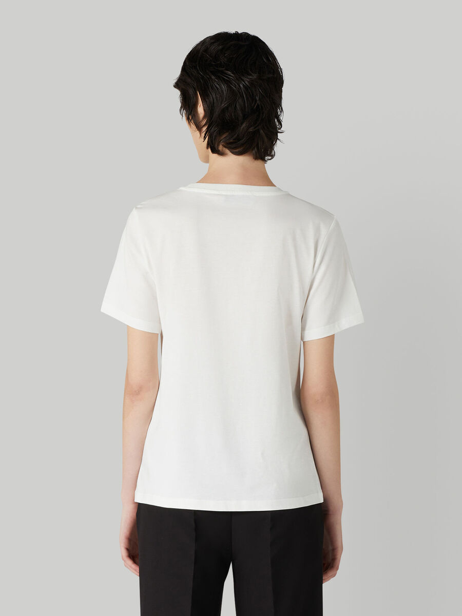 Regular-fit jersey T-shirt with tonal sequins