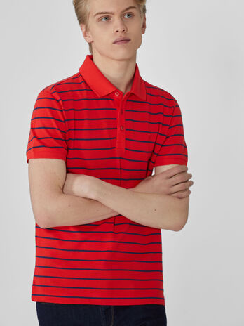 Polo regular fit in piquet di cotone a righe