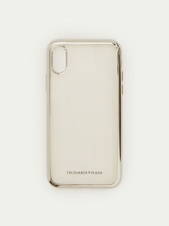 Coque iPhone X souple a bordure brillante