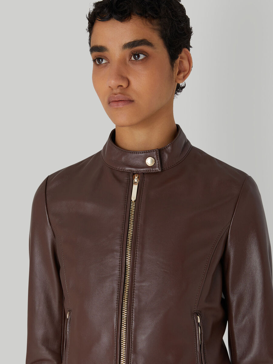 Soft leather biker jacket