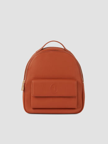 Medium faux leather Belgrado backpack