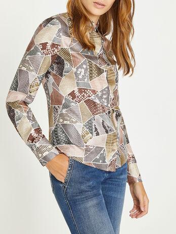 Camicia con stampa decorativa