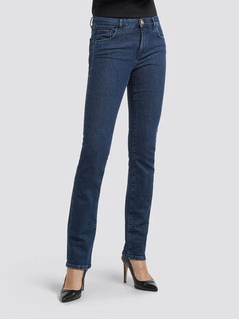 Classic fit blue wash jeans