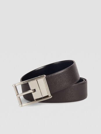 Business Affair belt in monochrome saffiano