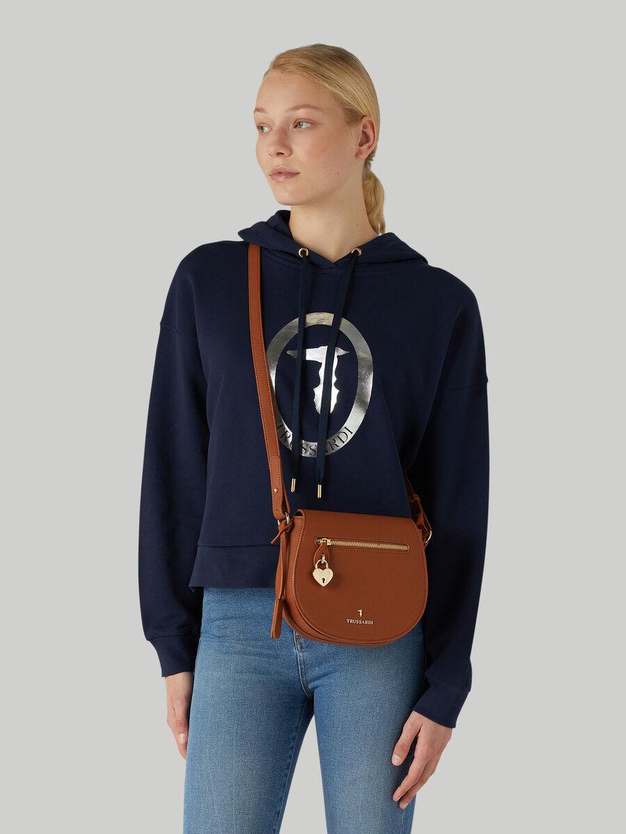 Medium deerskin crossbody bag