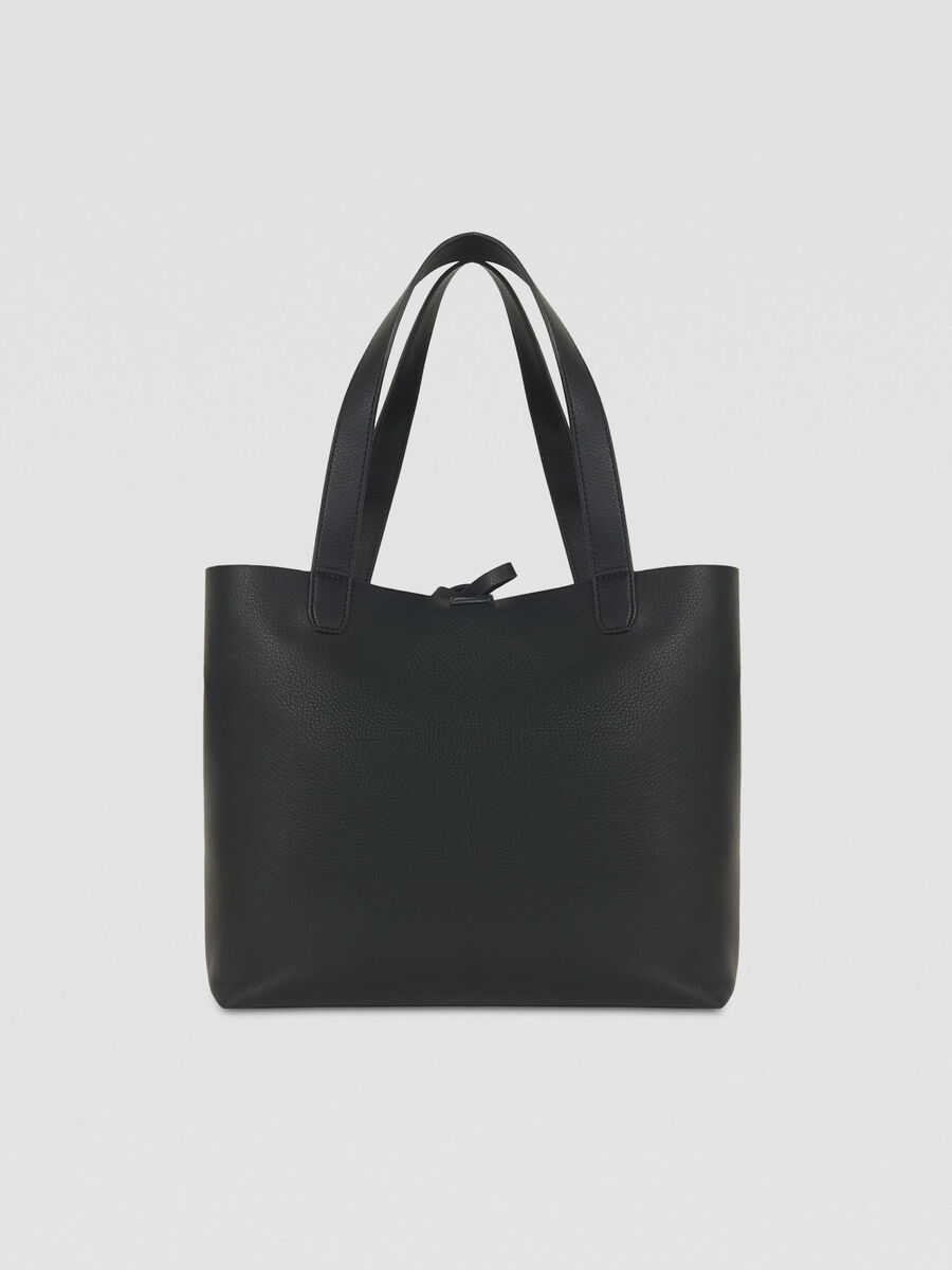 Medium Luna shopping bag in reversible faux leather