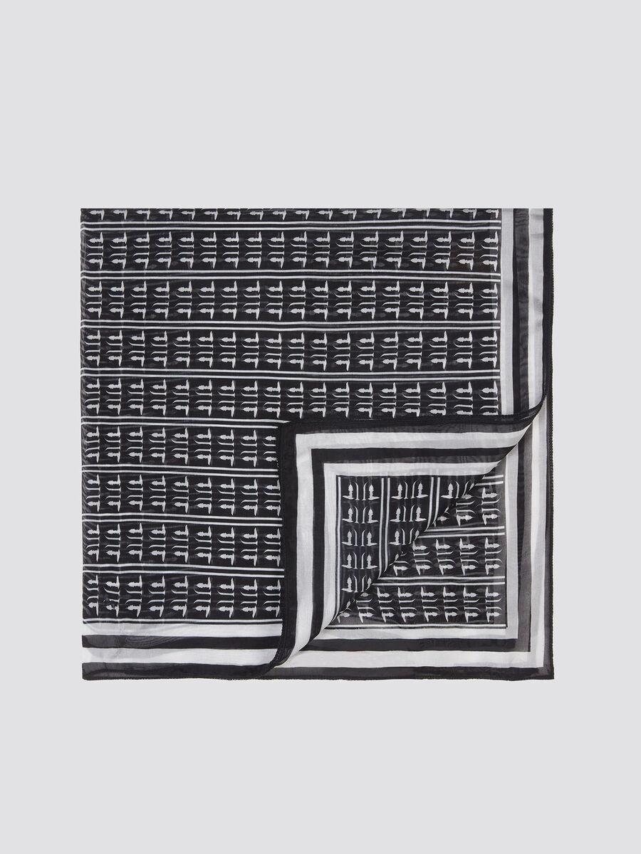 Foulard con stampa monogram distintiva