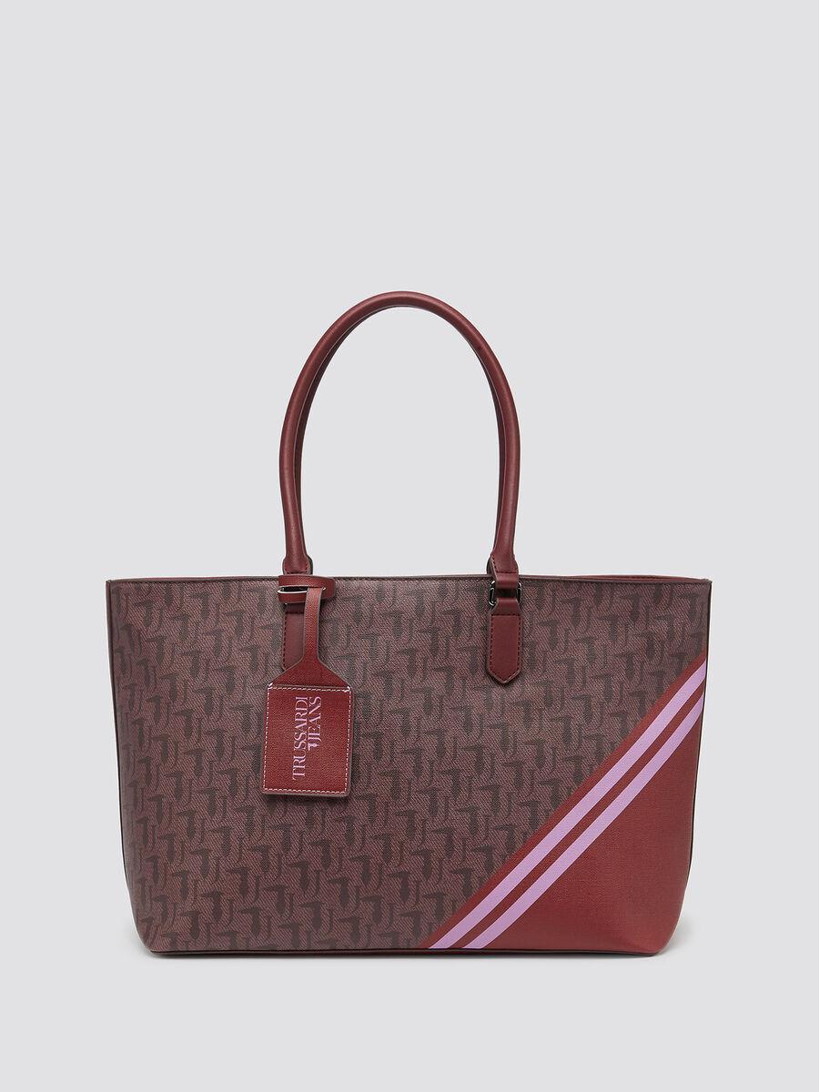 Shopping bag Vaniglia large logo all-over