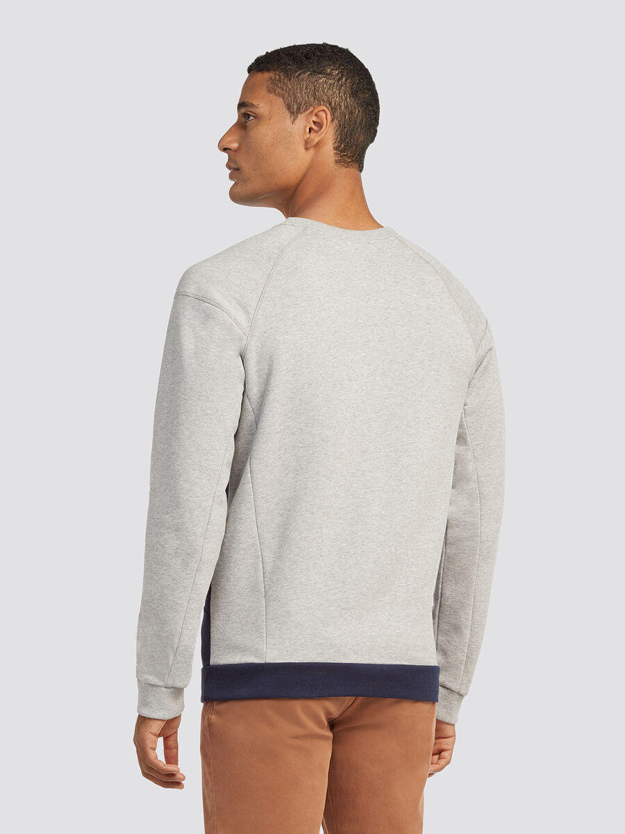 Sweatshirt with raglan sleeves and insert detailing