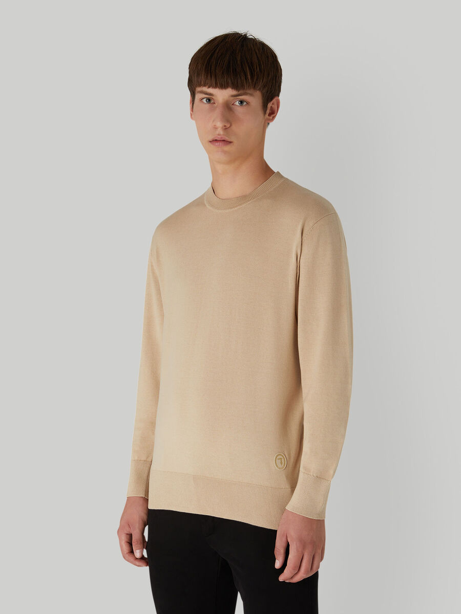 Regular-fit cotton and silk pullover