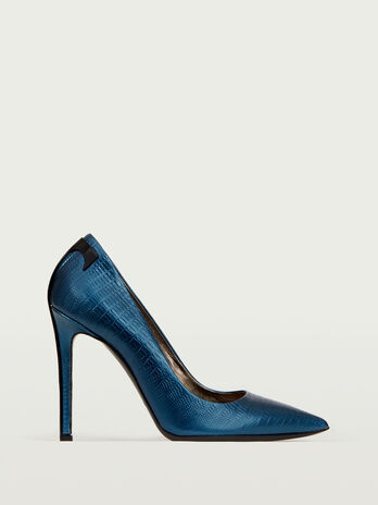 Calf leather T heel Decollete