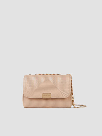 Cross-body medium Frida in similpelle trapuntata