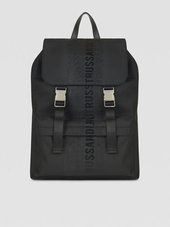 Medium canvas backpack with logo