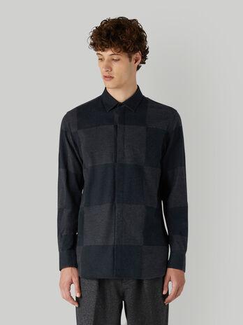 Camisa de franela de algodon a cuadros