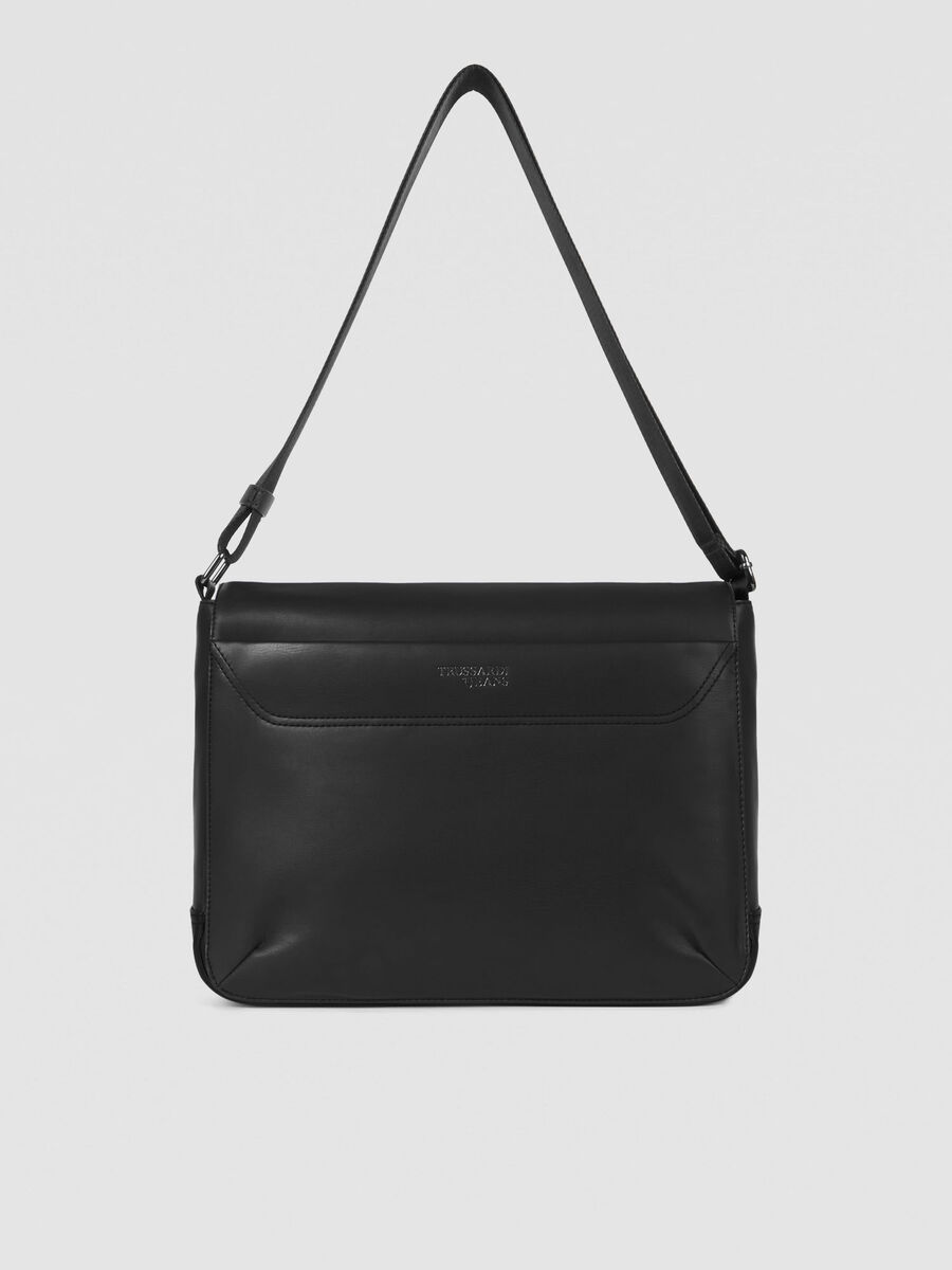 Medium Business City messenger bag in faux leather