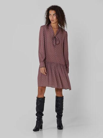 Vestido de crepe de viscosa estampada