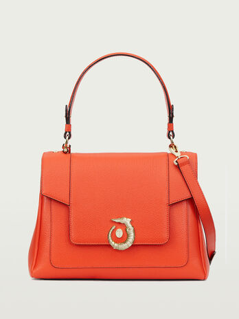 Icon bag Lovy regular in pelle con levriero