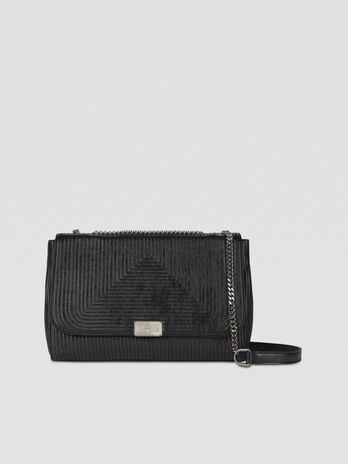 Cross-body Frida large in similpelle laminata