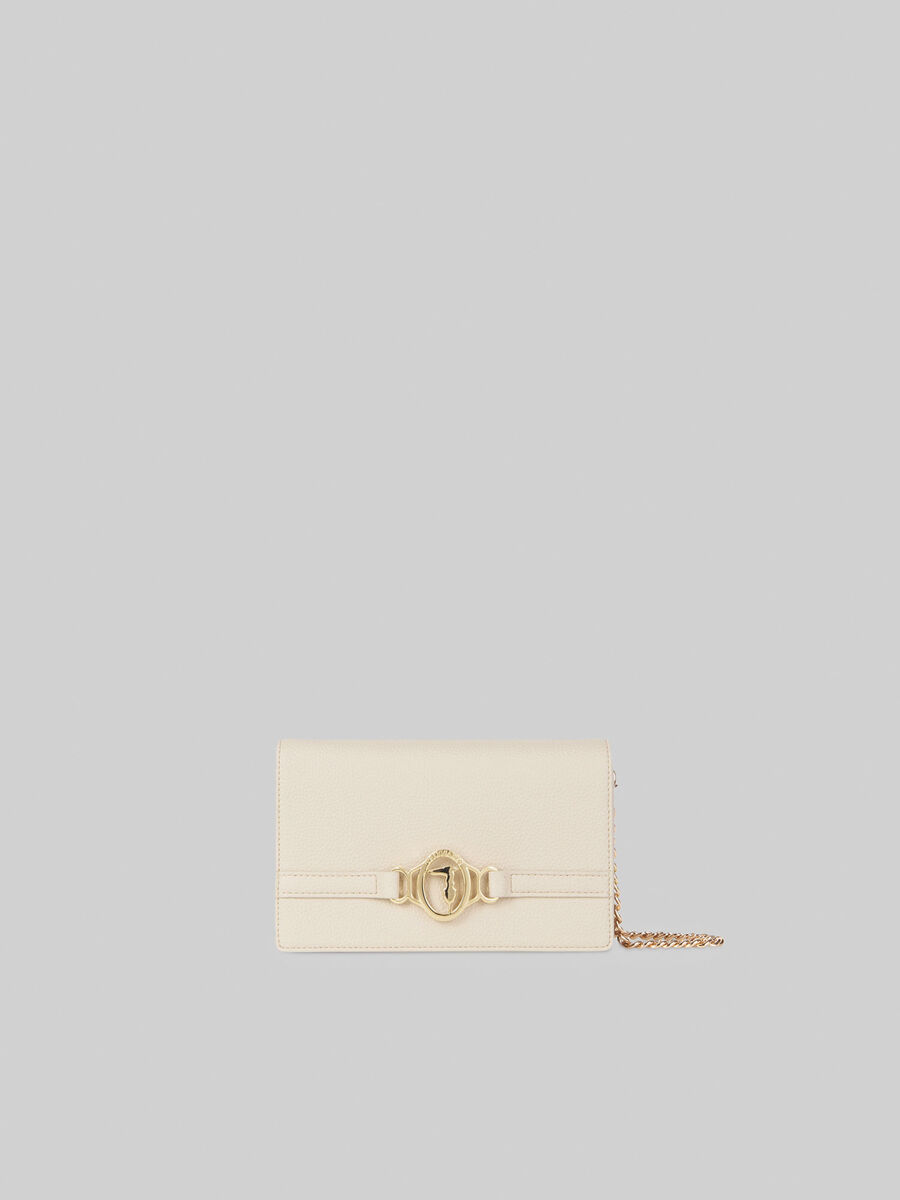Solid-colour Poppy clutch