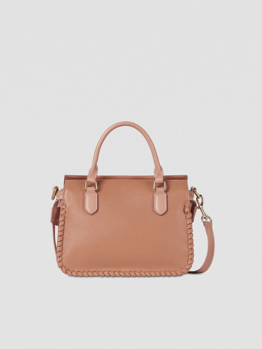 Small Amanda top-handle bag in faux leather