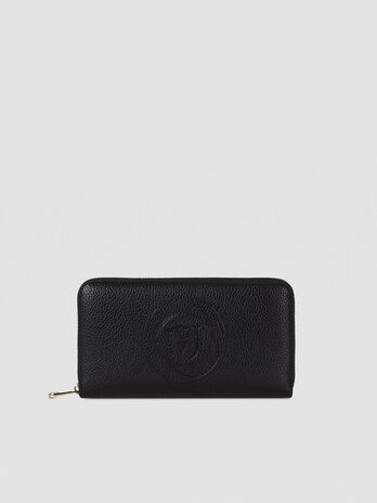 Large Faith purse in faux leather with logo