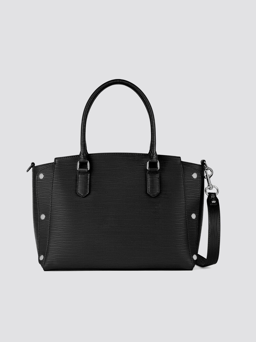 Medium Melly handbag in saffiano faux leather