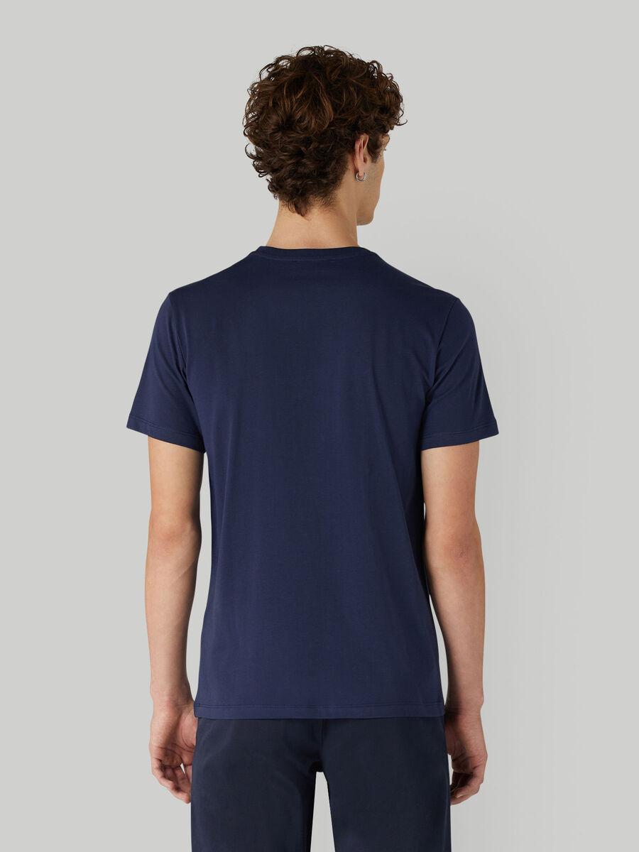 T-shirt in jersey di cotone con lettering