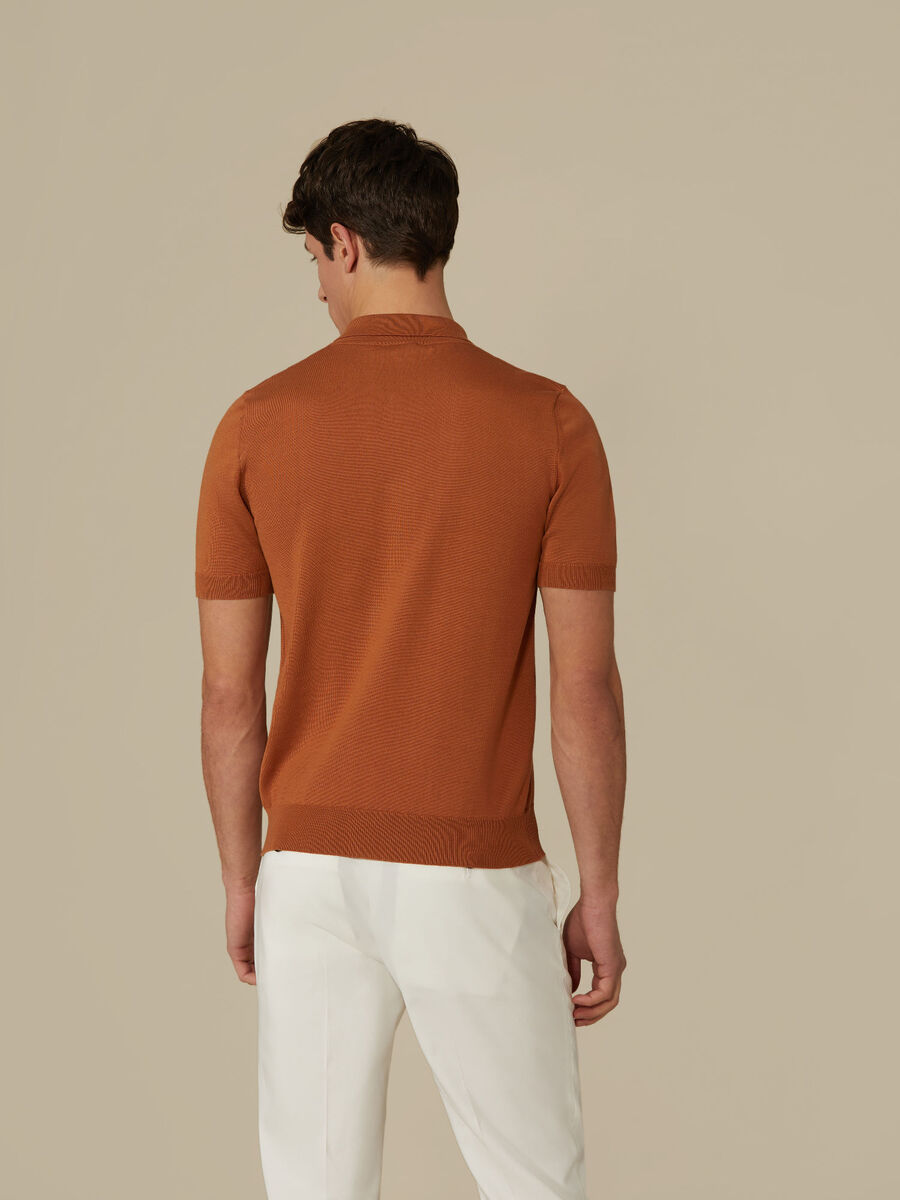 Regular-fit cotton polo-shirt