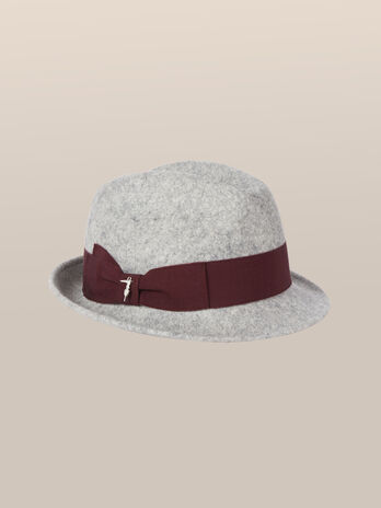 Felt fedora with logo