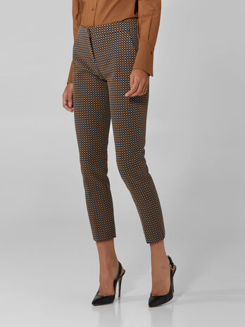 Jacquard cigarette trousers