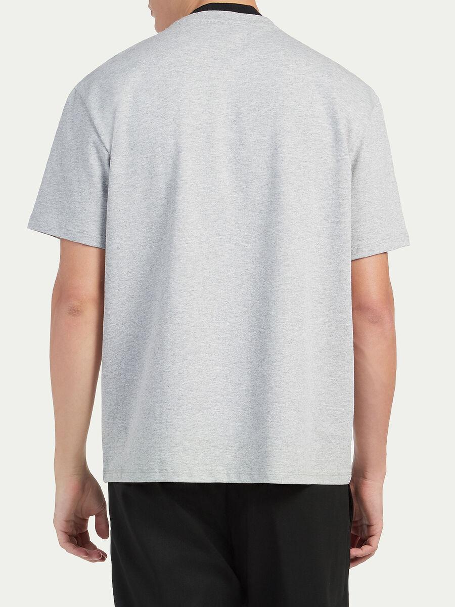 Camiseta over fit de punto con estampado censored