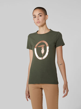 T-shirt regular fit in jersey stretch