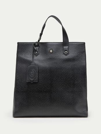 Shopping bag pelle tresor con rilievo