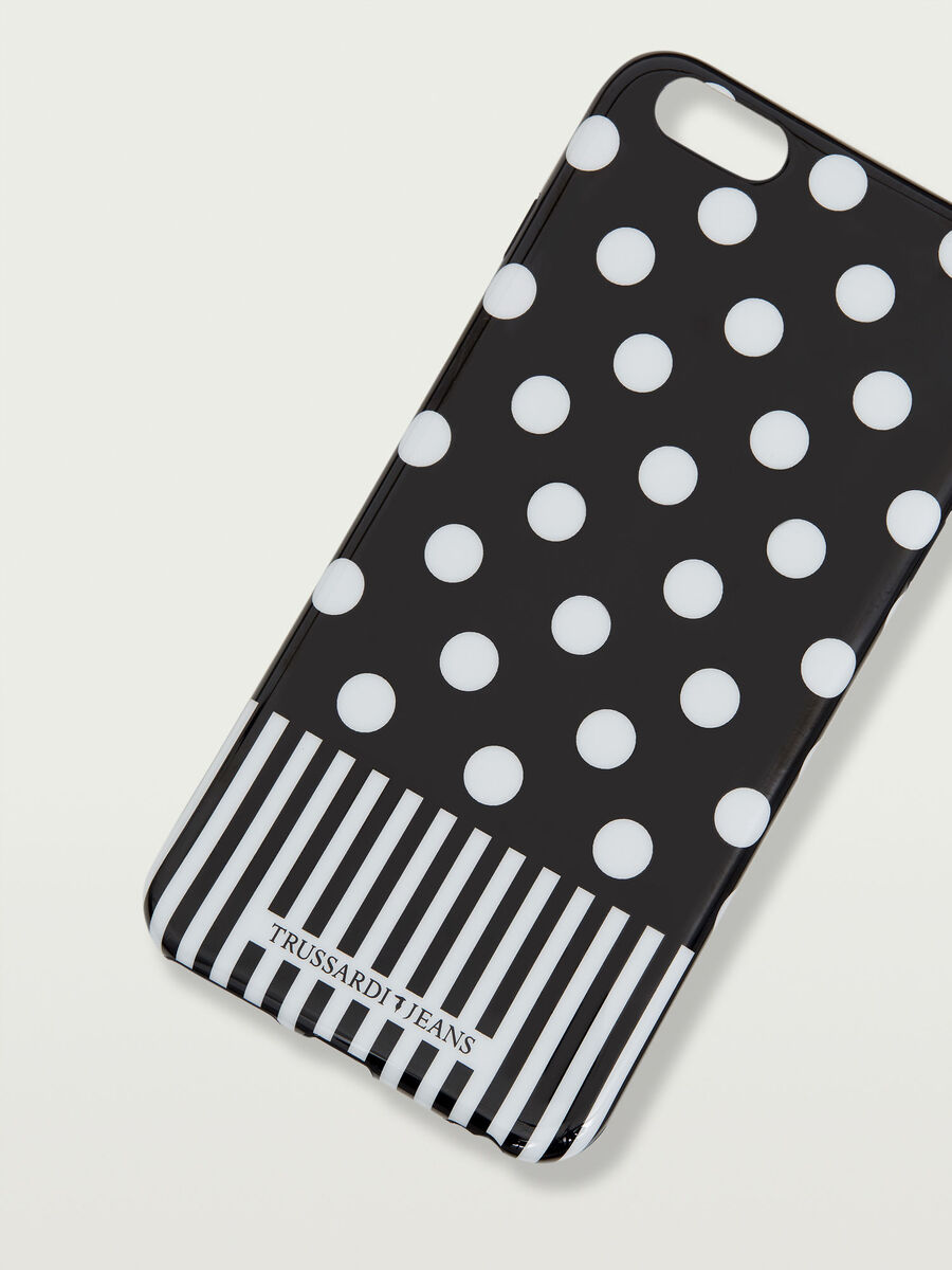 iPhone 6/6s Plus soft case with strip and polka dots