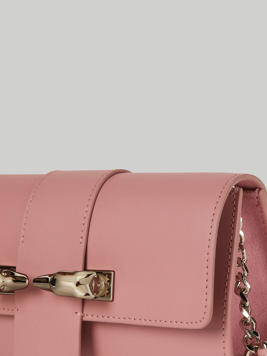 Leather and suede Milano baguette bag