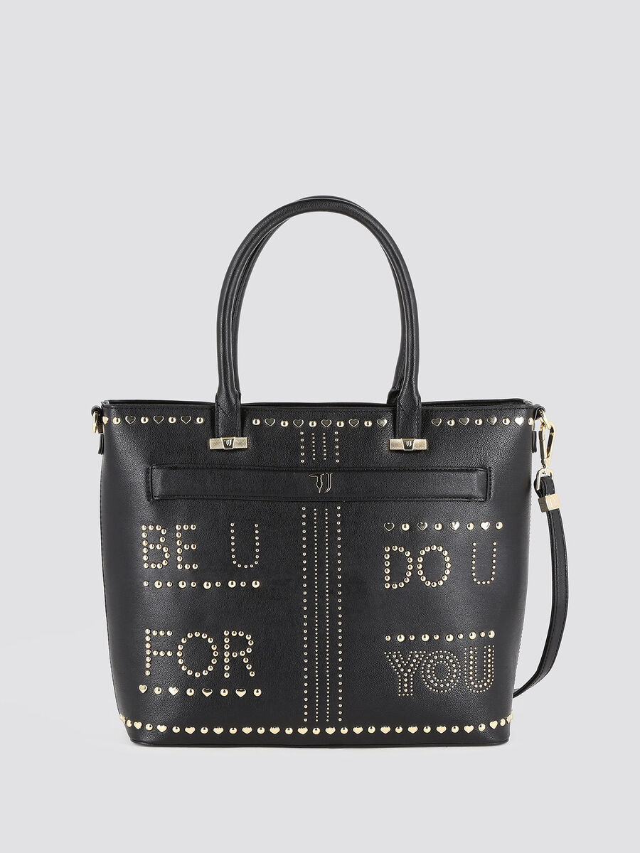 Studded Paprica shopping bag