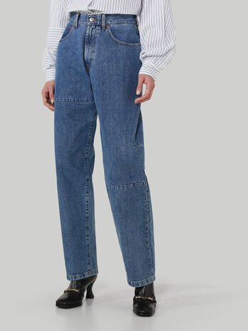 80s loose-fit jeans in Jean denim