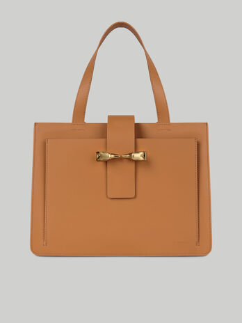 Leather and suede Milano tote bag