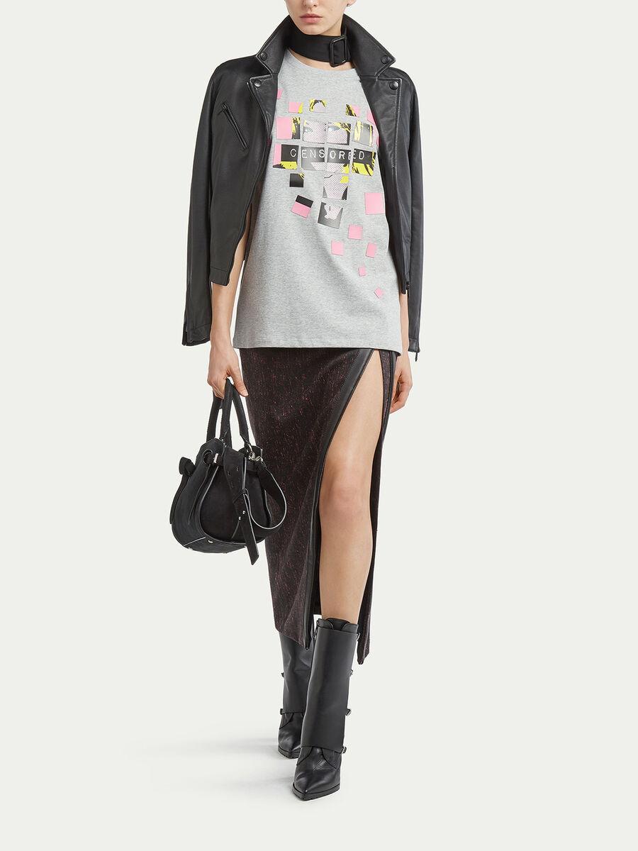 Jersey T shirt with pop art print