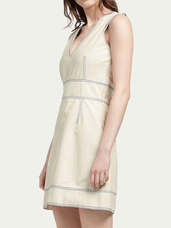 Plonge lambskin dress