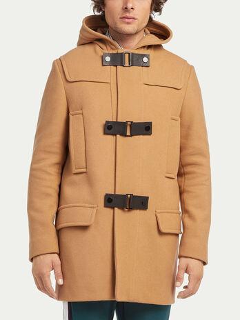 Regular fit solid colour duffel coat