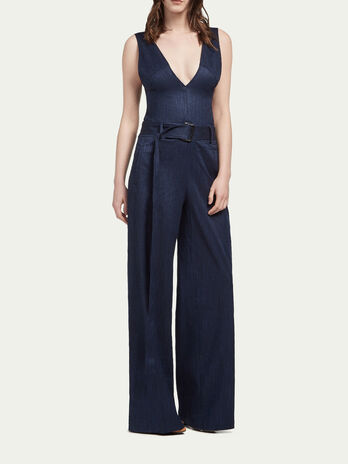 Woven stretch bamboo jumpsuit
