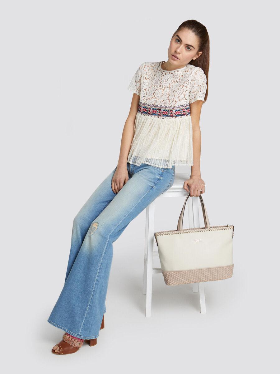 Mimosa midi handbag in soft faux leather