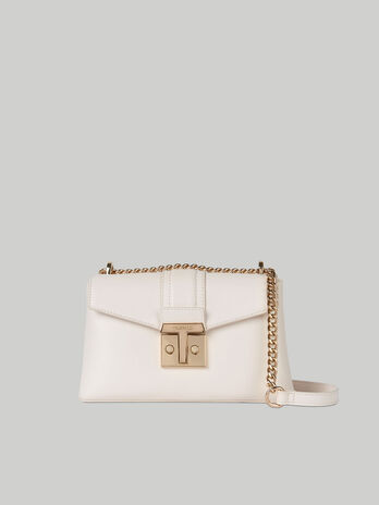 Medium Tulip crossbody bag in plain faux leather