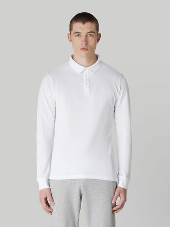 Langarm-Poloshirt im Regular-Fit aus Pikee